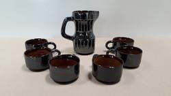 Ezüst szürke kerámia kávés készlet