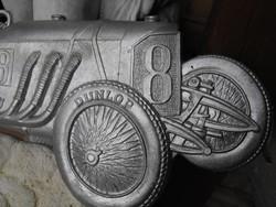Veterán autó 1930 Mercedes Dunlop gumi reklám verseny díj Fém plakett