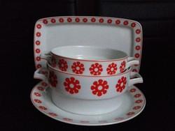 Hollóházi porcelán tálaló készlet 5db