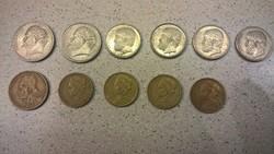 Görög drachma forgalmi érmék LOT