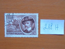 MAGYAR POSTA 1,50 FORINT 1952 1848-as Szabadságharcosok 218H