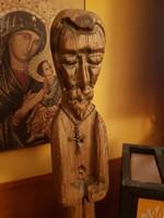 Régi fa Jézus szobor 50cm-es