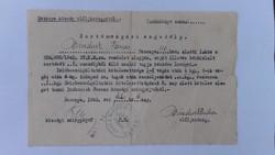 Sertésvágási engedély 1945 febr. Bezenye