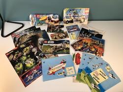 Régi LEGO prospektusok reklám anyagok doboz darabok  90-es évek