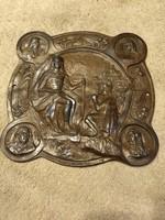 Kallos Ede - II. Rákóczi Ferenc relief - öntöttvas