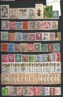 100 db bélyeg anglia csehszlovák ausztira usa yugoszlav stb szép darabok lot KIÁRUSÍTÁS 1 forintról