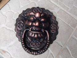 Eredeti Kínai Foo Oroszlán vagy Sárkány kutya ajtó kopogtató öntöttvas  Feng Shui szobor