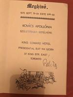 Kovács Apollònia (Kossuth díjjas)születésnapi meghívó