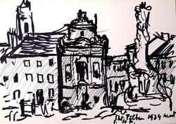 Arató István (1922-2010): Európai városképek - egyedi tusrajzok