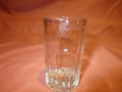 Retro 3 cl-es üveg pohár régebbi jelzéssel