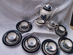 Fajansz reggeliző, teás- kávés készlet