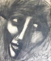 Kohán György: Art deco női fej