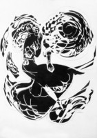 Sütő Éva: A nap szerelmese (tus-papír) 58,5x70 cm