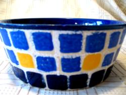 Kék mozaik mintájú GERMANY tál