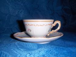 Régi Zsolnay barokk porcelán kávés csésze aljjal (0-1)