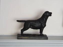 Labrador Retriver kutya bronz szobor