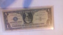 Papir penz.USA DOLLÁR.1957.certi. kék  állami pecsét.CSILLAGOS