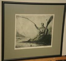 Gallé Tibor (1896-1944) - A horgászó