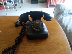 Retro bakelit tárcsás telefon