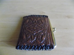 Retro Spanyol dombormintás bőr női pénztárca 7*8,5 cm (1/p)