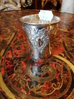 Ezüst keresztelő pohár.