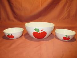 3 db alma mintás Kispesti Gránit tál
