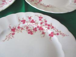 Bavaria porcelán szendvics tányérok ( 6 db)  virág diszitéssel