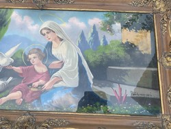 Szent kép blondel keretben