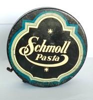 Régi Schmoll paszta fémdoboz 1930