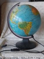Működő világítós földgömb 25 cm