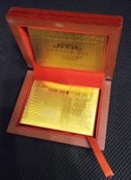 24 kt arany póker kártya díszdobozban, 500 Euró bankjegy hátlappal
