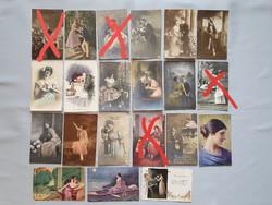 Gyönyörű szép antik romantikus, szerelmes emlék képeslap képeslapok
