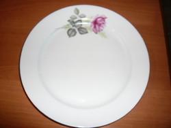 Rózsával diszitett  Alföldi porcelán  lapos tányér   24 cm -