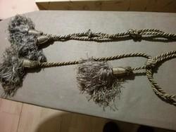 Ezüst szürke klasszikus függöny elkötő, bojtos, hibátlan, párban