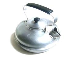 Régi szép ritka lapos forma teáskanna, nem hagyományos (körling) alakú