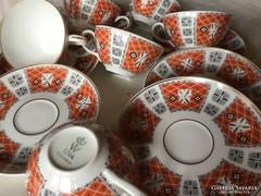 Wallendorf porcelán kávés, 6 személyes