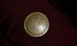 1986 belga 5 frank vallon