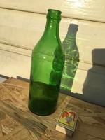 Antik sörös üveg - sörösüveg Állami Gazdaság 0.5 liter - gyönyörű zöld színű pincegazdaság