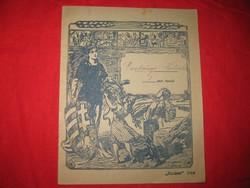 Iskolai  gyakorló  füzet az 1910 es évekből  , példás , gyöngy betűkkel  írva  16x20 cm