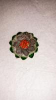 Ezüst bross zománcozott   925  metster  jelzéssel
