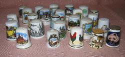 Porcelán gyűszű gyűjtemény  25 db-os