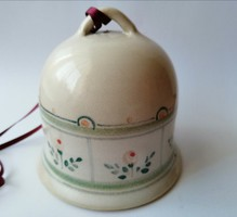 Kézműves kerámia csengettyű, harang