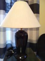 Fekete kerámia asztali lámpa