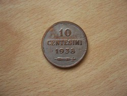 San Marino 10 Centesimi 1938