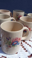 Porcelán teás bögre, csésze, pohár, 5 db