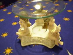 Gyönyörű figurális 3 angyalos gyertyatartó illatgyertyának is  hibátlan