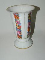 Rosenthal aranyozott virágos váza.