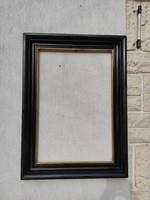 Fekete képkeret, antik 100 éves  politúrozott ffestmény tükör vagy fotósnak,gyüjteménynek, dekoráció