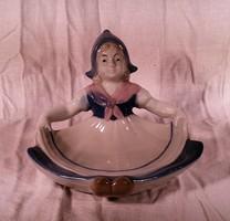 Német porcelán figura, tároló.