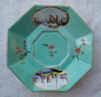 Alt Wien antik bécsi porcelán csészealj 1861 unikális darab biedermeier korszak hibátlan állapotban